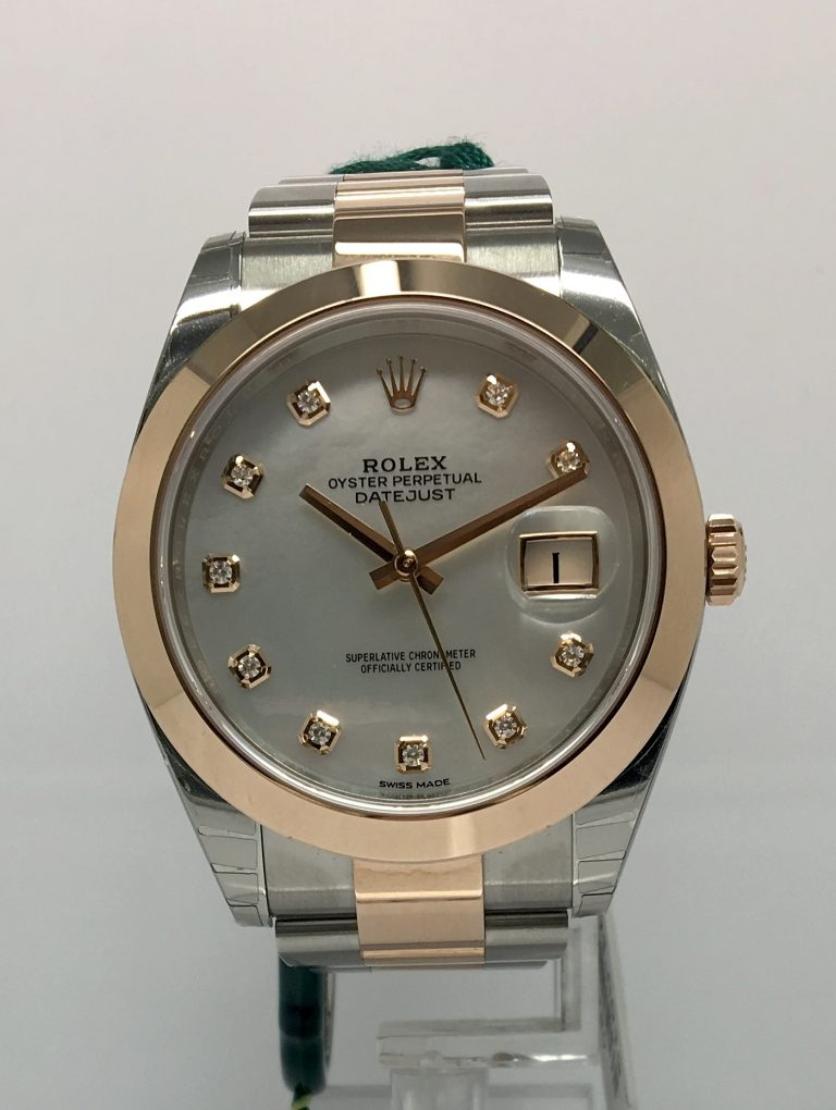 Rolex Datejust Steel & Rose Gold, mop Dia dial 126301 2017